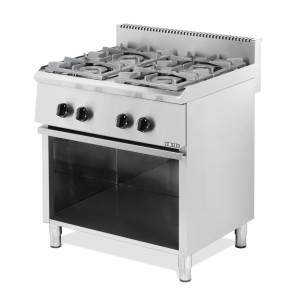 GAS BOILING TOP SERIES ST: 4 BURN. WITH OPEN BASE