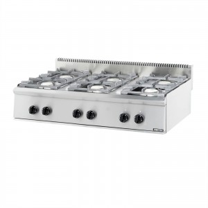 GAS BOILING TOP SERIES ST: 6 BURN.
