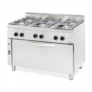 GAS COOKER 6 BURN.& LARGE OVEN